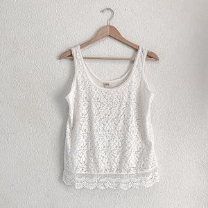 NWOT Mossimo | Cream Lace Tank Top